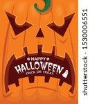 vintage halloween poster design ... | Shutterstock .eps vector #1530006551