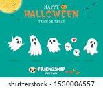 vintage halloween poster design ... | Shutterstock .eps vector #1530006557