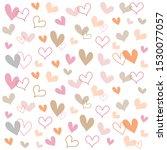hand drawn pretty mini modern... | Shutterstock .eps vector #1530077057