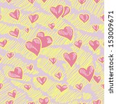 seamless pattern gentle heart | Shutterstock .eps vector #153009671