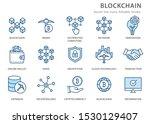 set of blockchain technology... | Shutterstock .eps vector #1530129407
