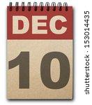 10 December Calendar On Recycl...
