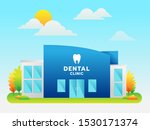 dental clinic building with... | Shutterstock .eps vector #1530171374