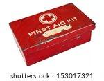 Vintage Weathered First Aid Kit ...