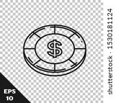 black line casino chip with...   Shutterstock .eps vector #1530181124