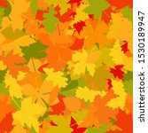 colorful autumn leaves  ... | Shutterstock .eps vector #1530189947