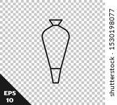 black line pastry bag for... | Shutterstock .eps vector #1530198077