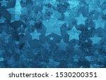 Stars On Distressed Old Vintag...