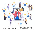 word of mouth marketing flat... | Shutterstock .eps vector #1530203327