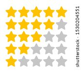 rating stars on a white...