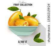 exotic fruit kumquat with green ...   Shutterstock .eps vector #1530215924