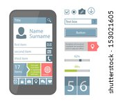 set of vector mobile flat ui...
