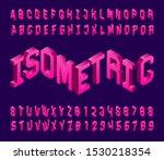 isometric alphabet font. 3d... | Shutterstock .eps vector #1530218354