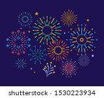 colorful fireworks. festive... | Shutterstock .eps vector #1530223934