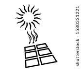 solar energy icon. shining sun...   Shutterstock .eps vector #1530231221