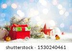 christmas winter background... | Shutterstock . vector #1530240461