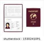 realistic vector template open... | Shutterstock .eps vector #1530241091