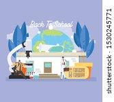 back to school education... | Shutterstock .eps vector #1530245771