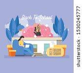 back to school education... | Shutterstock .eps vector #1530245777