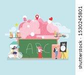 back to school education... | Shutterstock .eps vector #1530245801