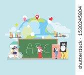 back to school education... | Shutterstock .eps vector #1530245804