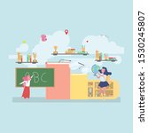 back to school education... | Shutterstock .eps vector #1530245807