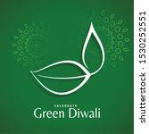 creative diwali diya design... | Shutterstock .eps vector #1530252551