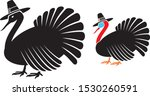 thanksgiving turkey with... | Shutterstock .eps vector #1530260591