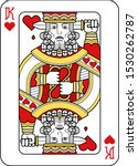a playing card king of hearts... | Shutterstock .eps vector #1530262787