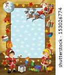 the happy christmas frame  ... | Shutterstock . vector #153026774