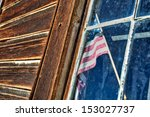 Stars And Stripes In The Window ...