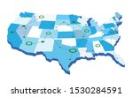 usa network map with green... | Shutterstock .eps vector #1530284591