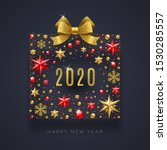 new year 2020 greeting...   Shutterstock .eps vector #1530285557