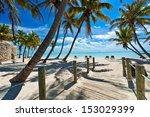 Footbridge To The Beach   Key...