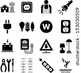 electricity icons | Shutterstock .eps vector #153030509