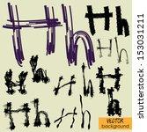 art sketch set of vector... | Shutterstock .eps vector #153031211