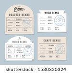 retro vintage coffee beans... | Shutterstock .eps vector #1530320324