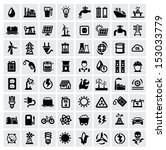 vector black energy icons set... | Shutterstock .eps vector #153033779