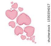 vector heart picture  pink... | Shutterstock .eps vector #1530354017