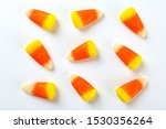 Bunch Of Candy Corn Sweets As...