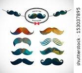 mustache set | Shutterstock . vector #153037895