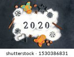 2020 Text Made With Flour With...