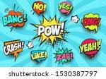 collection of cartoon  comic... | Shutterstock .eps vector #1530387797