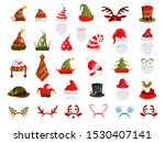 christmas hat set. collection... | Shutterstock .eps vector #1530407141