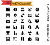 project and management icon set | Shutterstock .eps vector #1530421241