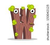 letter w monster  vector... | Shutterstock .eps vector #153042125