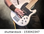hand of a musician playing a...   Shutterstock . vector #153042347