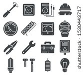 vector electricity icons set on ... | Shutterstock .eps vector #1530443717