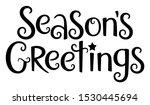 season's greetings black vector ...   Shutterstock .eps vector #1530445694