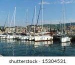 sailing boats in genoa harbor | Shutterstock . vector #15304531